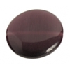 Cat's Eye Bead 16mm Round Dark Purple